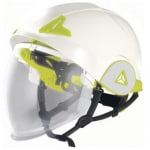 CASCO DE OBRA CARCASA DOBLE VISERA RETRÁCTIL ONYX