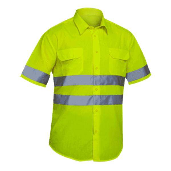 Camiseta Alta Visibilidad Manga Corta Sunway amarillo florescente
