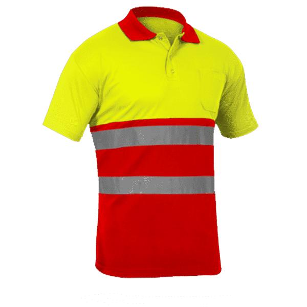 Polo Alta Visibilidad Sunny amarillo rojo