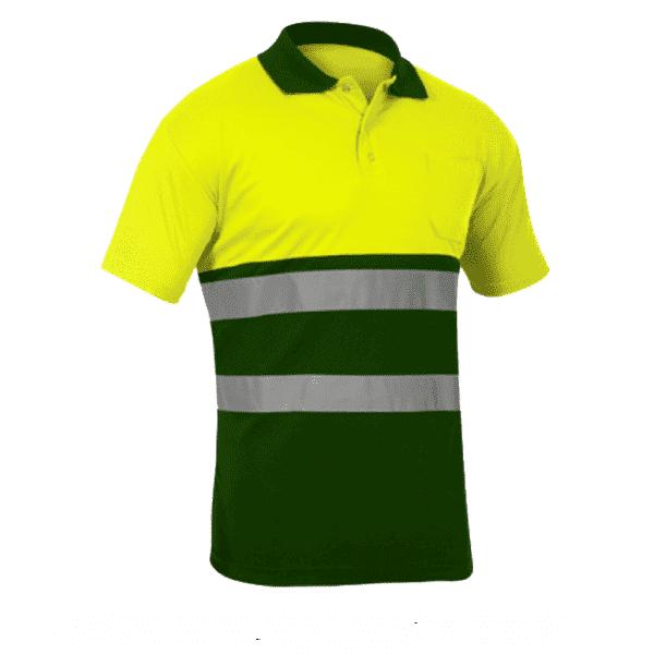 Polo Alta Visibilidad Sunny amarillo verde oscuro
