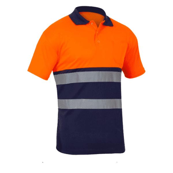 Polo Alta Visibilidad Sunny naranja marino