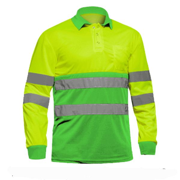 Polo Alta Visibilidad Sunny Plus amarillo verde ecologico