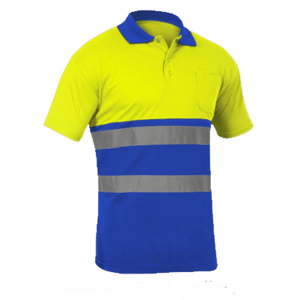 Polo Alta Visibilidad Sunny amarillo azulina