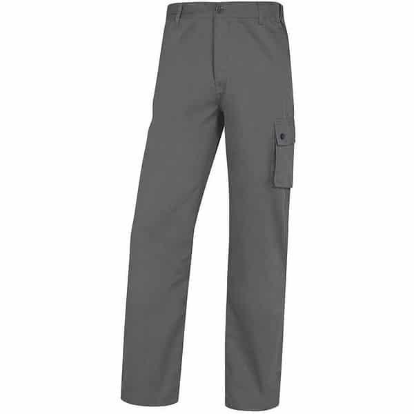 Pantalon Trabajo Algodon Paligpa Gris