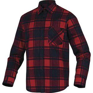 Camisa Franela Manga Larga Ruby Rojo Negro