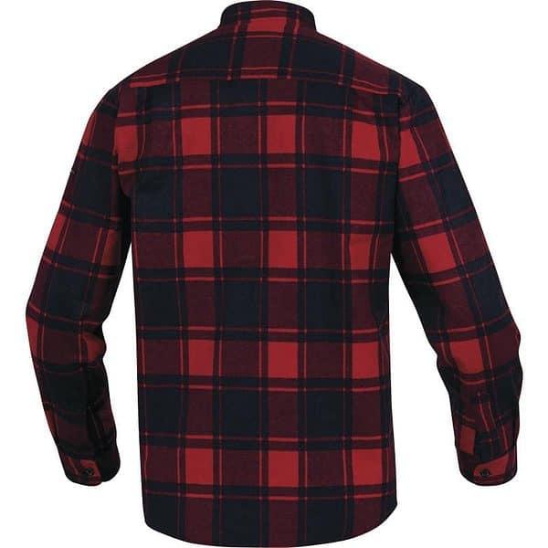 Camisa Franela Manga Larga Ruby Rojo Negro Espalda