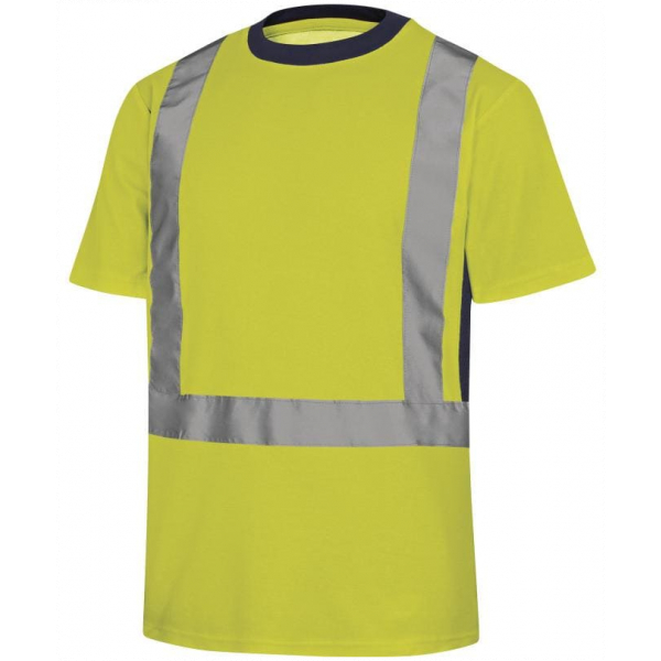 Camiseta Manga Corta Alta Visibiidad Nova Amarillo