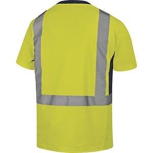 Camiseta Manga Corta Alta Visibiidad Nova Amarillo Espalda