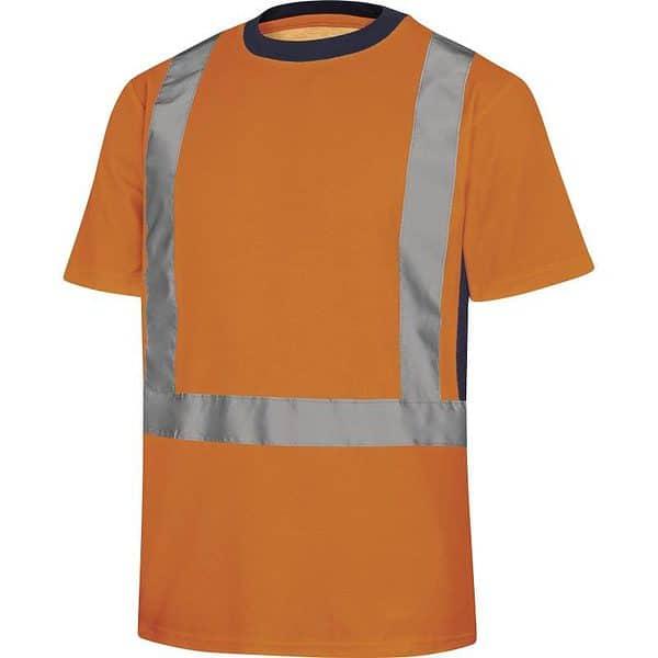 Camiseta Manga Corta Alta Visibiidad Nova Naranja