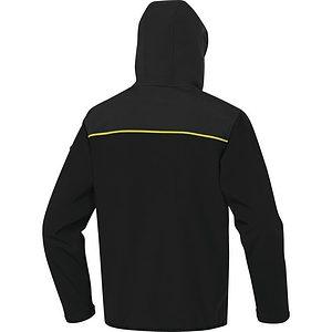 Chaqueta 3 Capas Horten2 Negro Amarillo Espalda