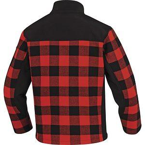 Chaqueta Lana Polar Kodiak Rojo Negro Espalda