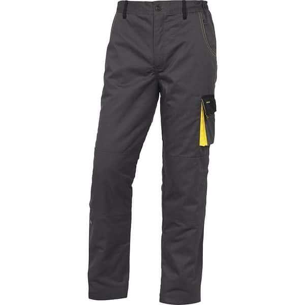 Pantalones Acolchados Dmpaw Gris Amarillo