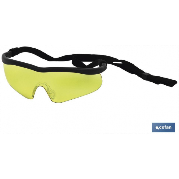 GAFAS SEGURIDAD SPORT AMBAR UV PROTECTION